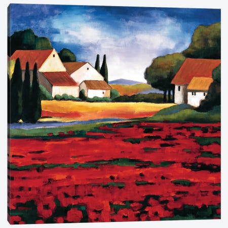 Poppy Field I Canvas Print #CLA1} by Janine Clarke Canvas Art