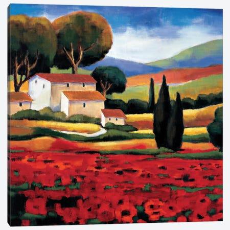 Poppy Field II Canvas Print #CLA2} by Janine Clarke Canvas Wall Art