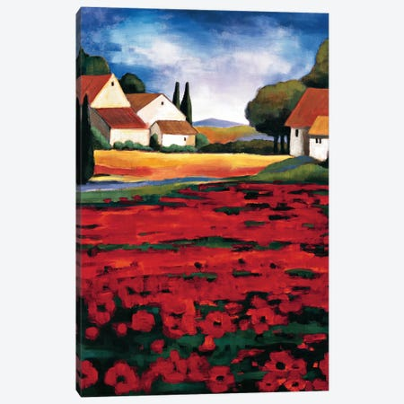 Poppy Field I Canvas Print #CLA3} by Janine Clarke Canvas Wall Art