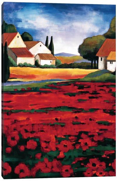Poppy Field I Canvas Art Print
