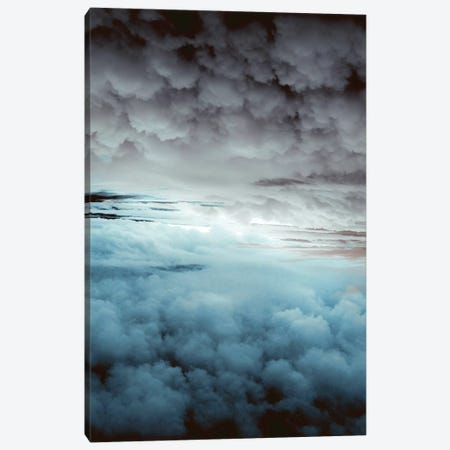 Glacier Painted Clouds Canvas Print #CLB13} by Caleb Troy Canvas Artwork