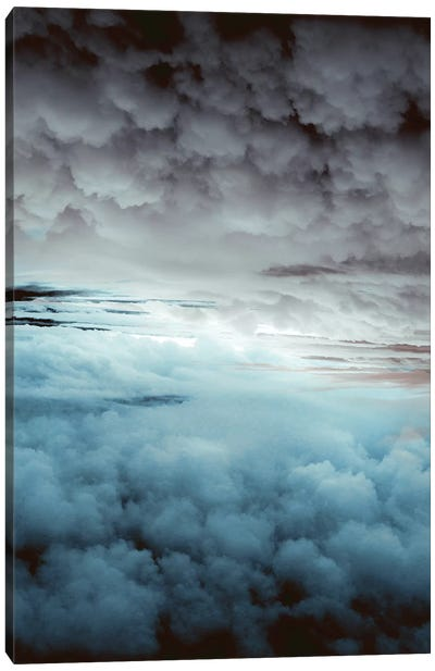 Glacier Painted Clouds Canvas Art Print
