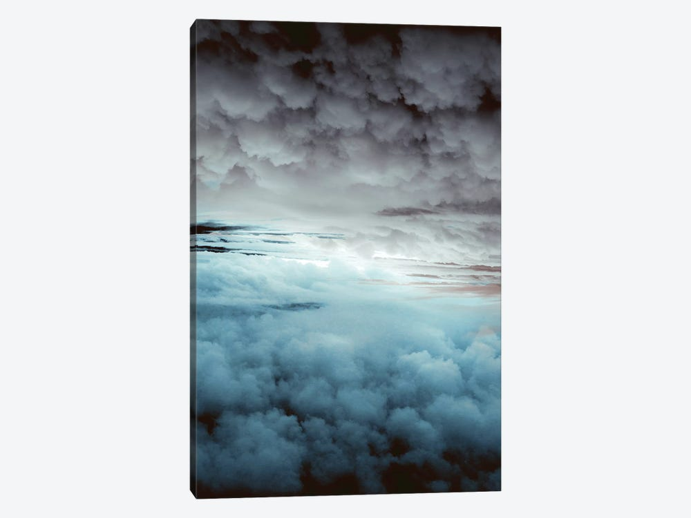 Glacier Painted Clouds by Caleb Troy 1-piece Canvas Art Print