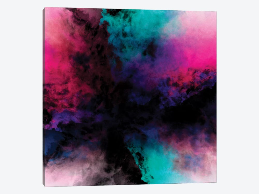 Neon Radial Dreams by Caleb Troy 1-piece Canvas Art Print