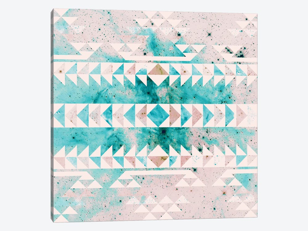 Teal Gold Tribal by Caleb Troy 1-piece Canvas Wall Art