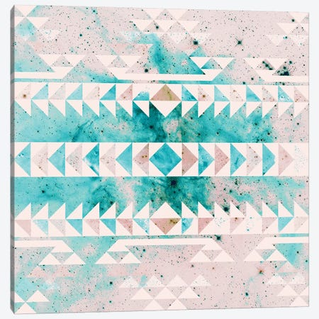 Teal Gold Tribal Canvas Print #CLB38} by Caleb Troy Canvas Wall Art