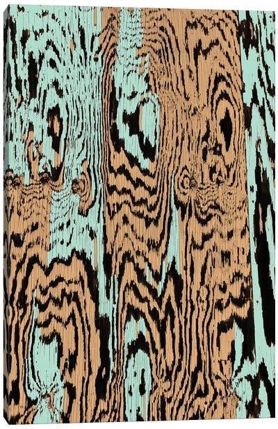 Aqua Splinters Canvas Art Print