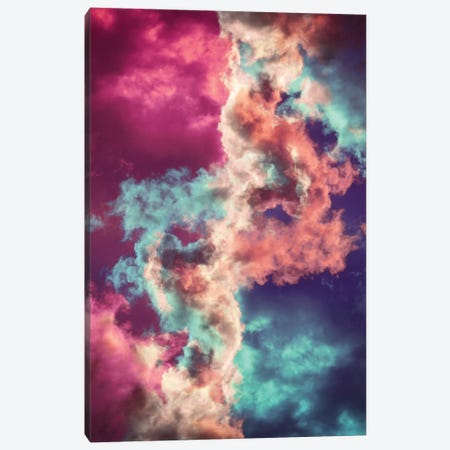 Yin Yang Painted Clouds Canvas Print #CLB42} by Caleb Troy Art Print