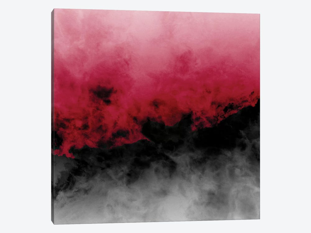 Zero Visibility Crimson by Caleb Troy 1-piece Canvas Artwork