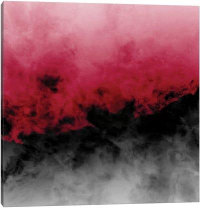 Zero Visibility Crimson Canvas Art Print