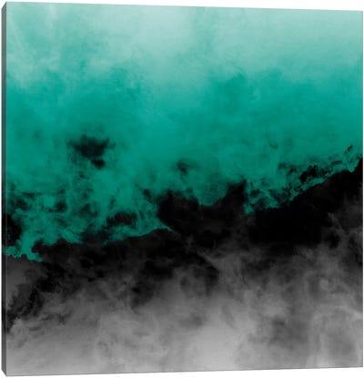 Zero Visibility Emerald Canvas Art Print