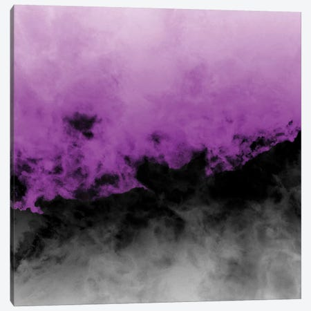 Zero Visibility Radiant Orchid Canvas Print #CLB48} by Caleb Troy Art Print