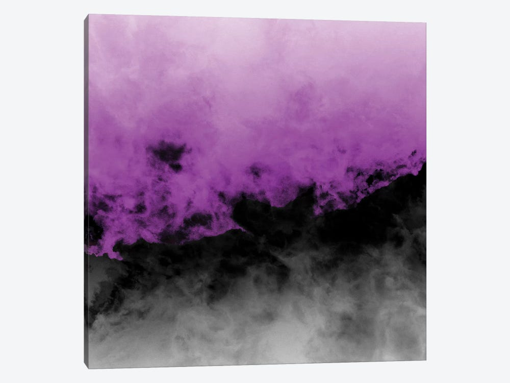 Zero Visibility Radiant Orchid by Caleb Troy 1-piece Canvas Art Print