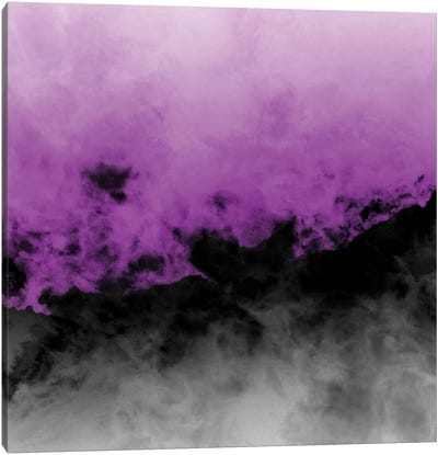 Zero Visibility Radiant Orchid Canvas Art Print