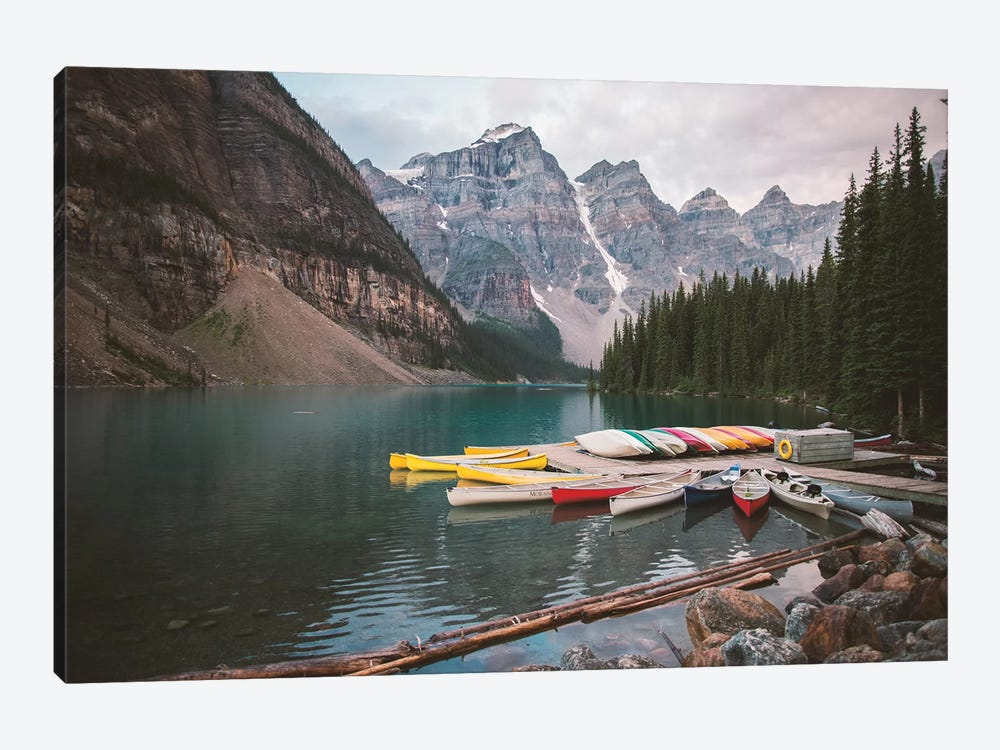 Canoes At Rest by Caleb Troy 1-piece Canvas Wall Art
