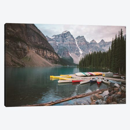 Canoes At Rest 3-Piece Canvas #CLB50} by Caleb Troy Canvas Artwork