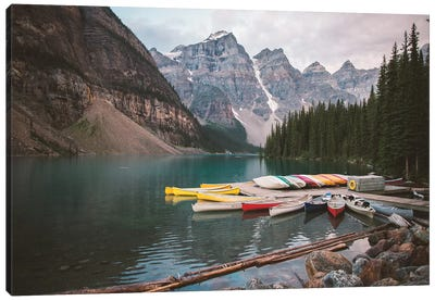 Canoes At Rest Canvas Art Print