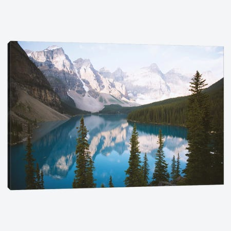 Mountain Reflection Canvas Print #CLB54} by Caleb Troy Art Print
