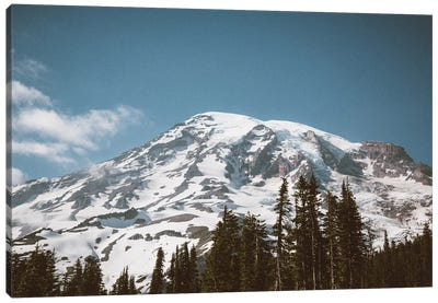 Retro Rainier Canvas Art Print