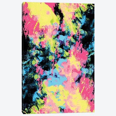 Blacklight Neon Swirl Canvas Print #CLB5} by Caleb Troy Canvas Artwork