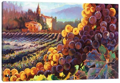 Tuscany Harvest Canvas Print #CLF1
