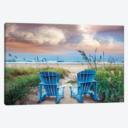 Shore Seats Canvas Print #CLG10} by Celebrate Life Gallery Art Print