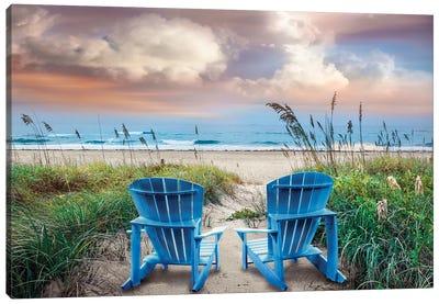 Shore Seats Canvas Art Print
