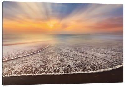 Waves At Dawn Canvas Art Print