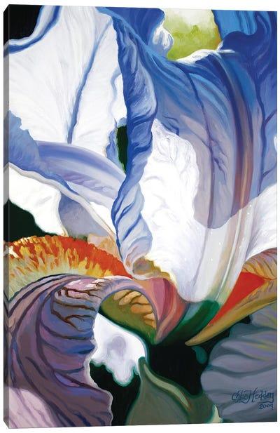 Blue Iris Canvas Art Print