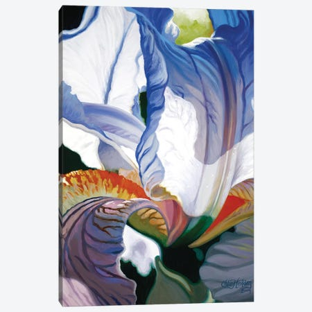 Blue Iris Canvas Print #CLH12} by Chloe Hedden Canvas Wall Art