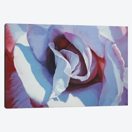 Blue Rose Canvas Print #CLH13} by Chloe Hedden Canvas Wall Art