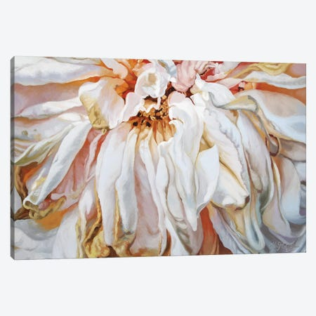 Faded Rose Canvas Print #CLH28} by Chloe Hedden Art Print