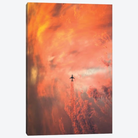 Airplane Canvas Print #CLI6} by Christian Lindsten Canvas Print