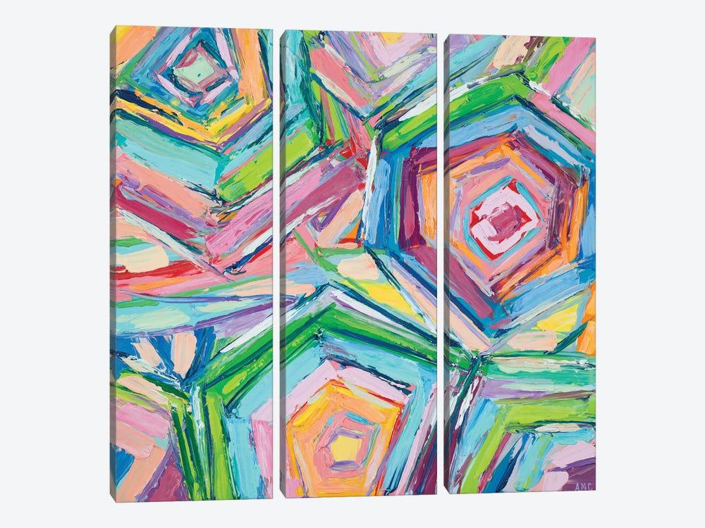 Beach Umbrellas by Ann Marie Coolick 3-piece Canvas Art Print