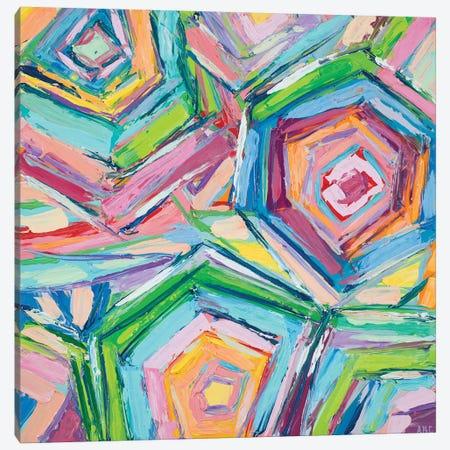 Beach Umbrellas Canvas Print #CLK11} by Ann Marie Coolick Canvas Art Print