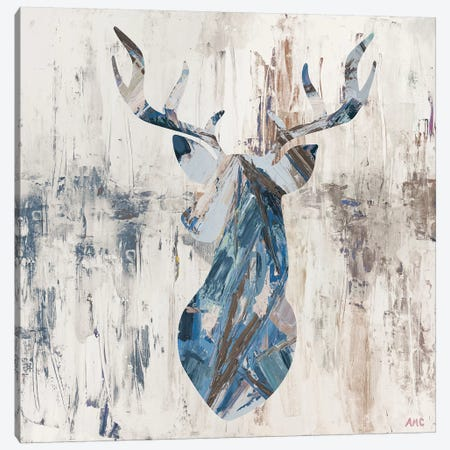 Blue Rhizome Deer Bust Canvas Print #CLK12} by Ann Marie Coolick Canvas Art Print
