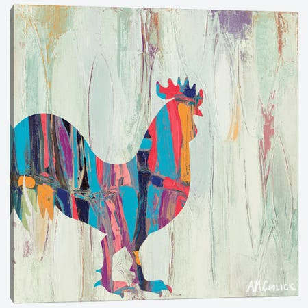 Bright Rhizome Rooster Canvas Print #CLK13} by Ann Marie Coolick Canvas Art Print
