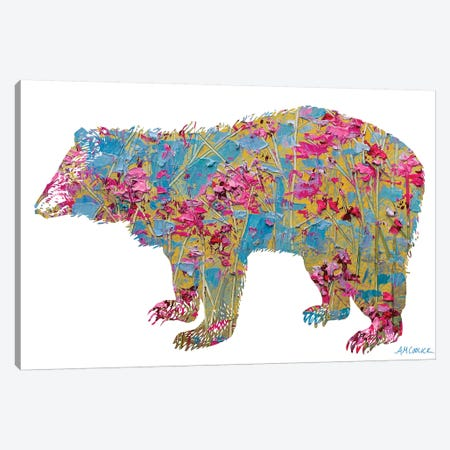 Colorful Bear Canvas Print #CLK16} by Ann Marie Coolick Canvas Art