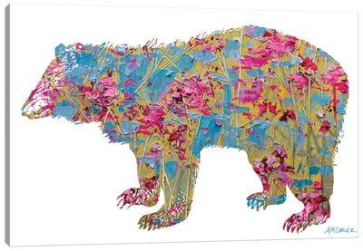 Colorful Bear Canvas Art Print