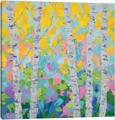 Dancing Birch Tree II Canvas Art Print
