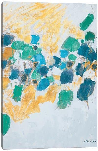 Gold & Teal Internodes Canvas Art Print