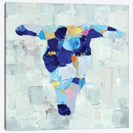 Mosaic Bull Skull Canvas Print #CLK27} by Ann Marie Coolick Canvas Print