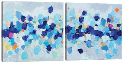 Amoebic Party Diptych Canvas Art Print