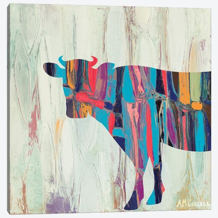 Rhizome Cow Canvas Print #CLK30} by Ann Marie Coolick Art Print