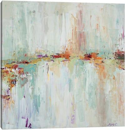 Abstract Rhizome Square Canvas Art Print