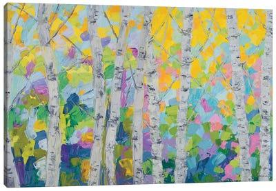 Dancing Birch Tree Canvas Art Print