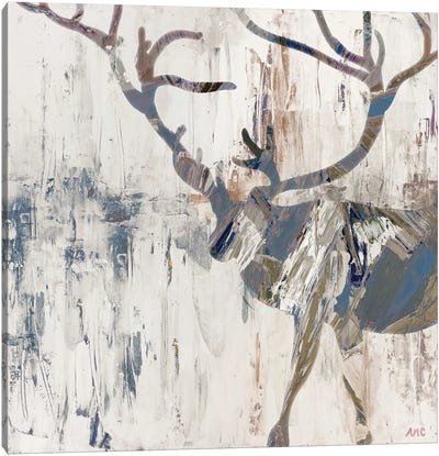 Neutral Rhizome Deer Canvas Art Print