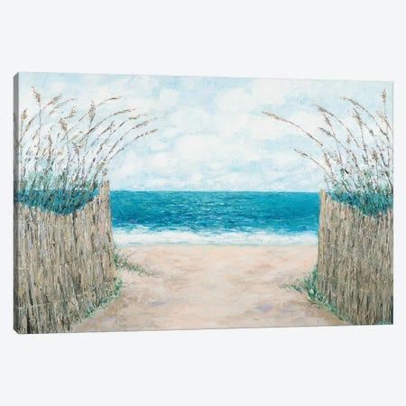 Sand Bridge Walkway Canvas Print #CLK54} by Ann Marie Coolick Canvas Wall Art