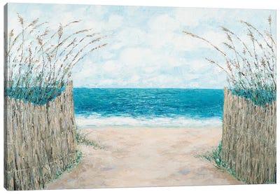 Sand Bridge Walkway Canvas Art Print