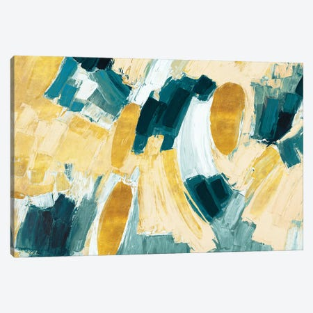 Gold and Teal Afterglow Canvas Print #CLK62} by Ann Marie Coolick Canvas Art